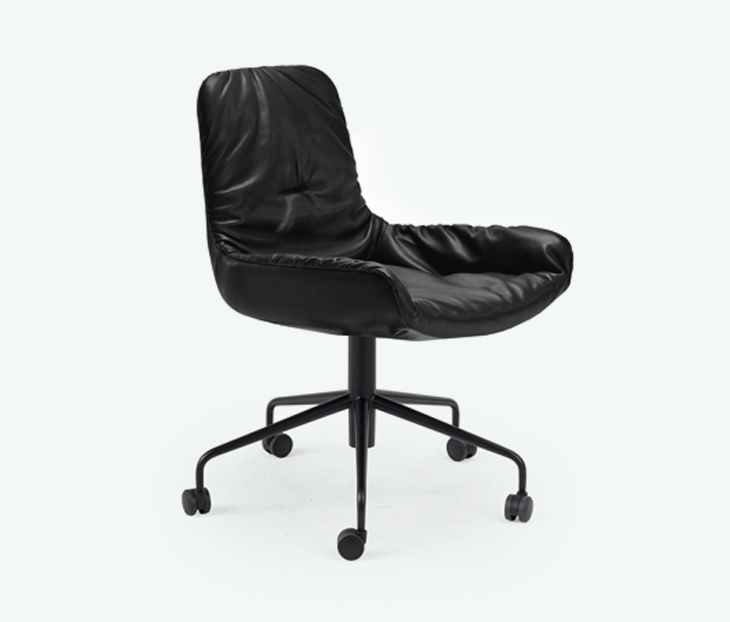 Кожаный стул Leya chair work leather